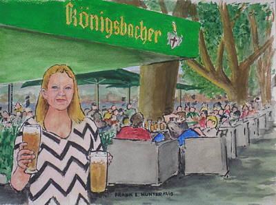 Amber In A Koblenz German Bier Garten Original