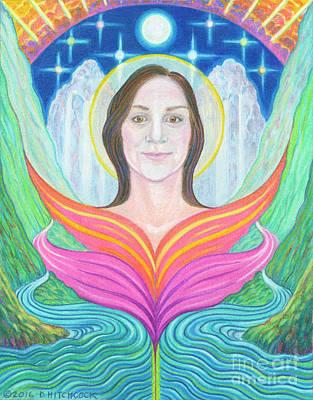 Amber - Lady Of Light Art Print