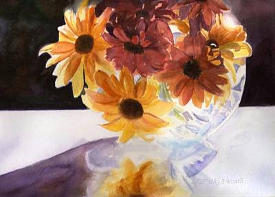 Painting - Amber Mums by Kathy Nesseth