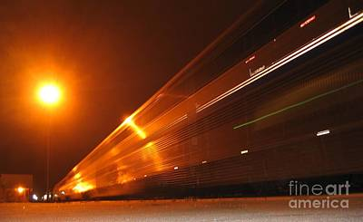 Photograph - Amber Night Train by James B Toy