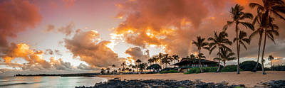 Haleiwa Photograph - Amber Palms by Sean Davey