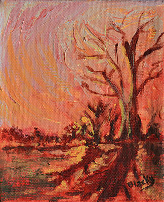 Painting - Amber Skies by Donna Blackhall