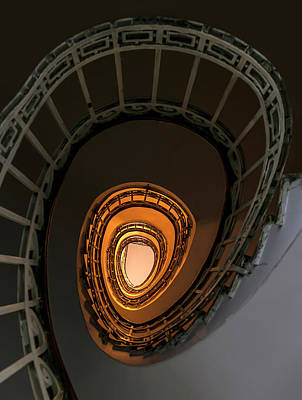 Photograph - Amber Staircase by Jaroslaw Blaminsky