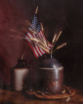 Old Glory Wall Art - Photograph - Amber Waves Of Grain by Tom Mc Nemar