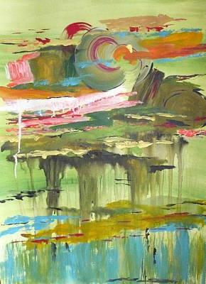 Amber Waves Print by Yael Eylat-Tanaka