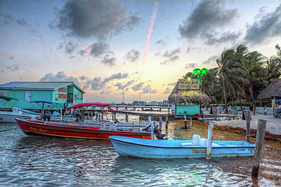 Photograph - Ambergris Caye Sunset San Pedro Belize by Toby McGuire