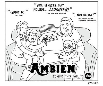 Jeremy Nguyen Drawing - Ambien Coming This Fall To Abc by Jeremy Nguyen