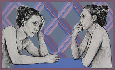 Painting - Ambiface 4 by Jovana Kolic