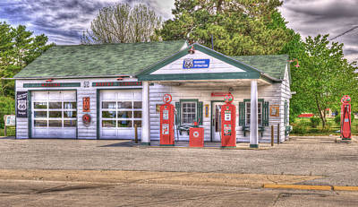 Ambler's Texaco Gas Station Art Print