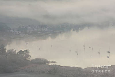 Ambleside Wall Art - Photograph - Ambleside Waterfront In The Mist by Tony Higginson