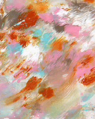 White Marble Painting - Ambrosia- Abstract Art By Linda Woods by Linda Woods