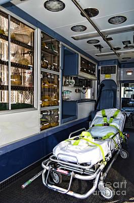 Ambulance A Look Inside Print by Paul Ward