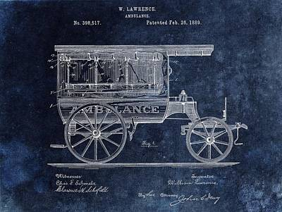 Drawing - Ambulance Wagon Patent by Dan Sproul