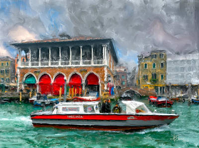 Art Print featuring the photograph Ambulanza. Venezia by Juan Carlos Ferro Duque