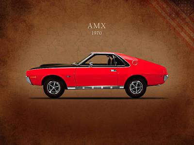 Amc Amx 1970 Art Print by Mark Rogan