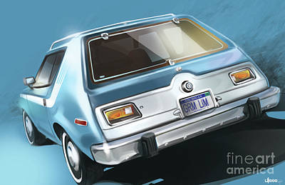Amc Gremlin Throwback Art Print
