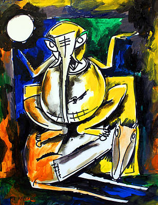 Painting - Ameeba 100- Ganesha by Mr AMeeBA