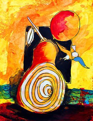 Painting - Ameeba 42- Pear Still Life by Mr AMeeBA