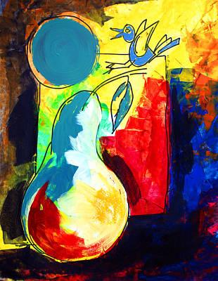 Painting - Ameeba 44- Pear Still Life 3 by Mr AMeeBA