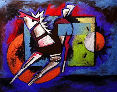 Painting - Ameeba 48- Abstract Horse by Mr AMeeBA