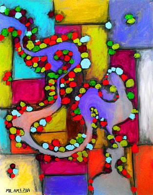 Painting - ameeba 54- Aerial 2 by Mr AMeeBA