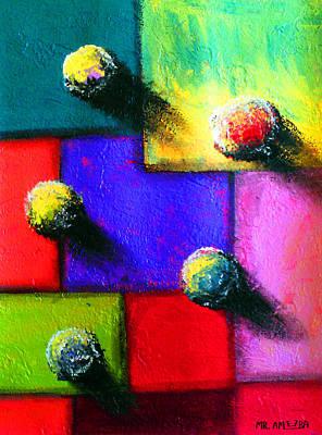 Painting - Ameeba 57- Aerial 5 by Mr AMeeBA