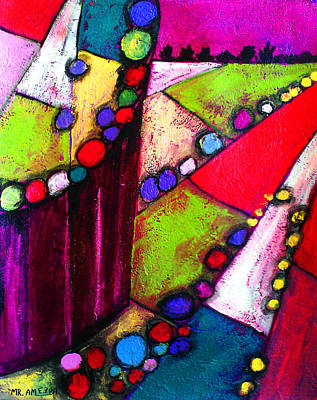 Painting - Ameeba 60- Aerial 8 by Mr AMeeBA