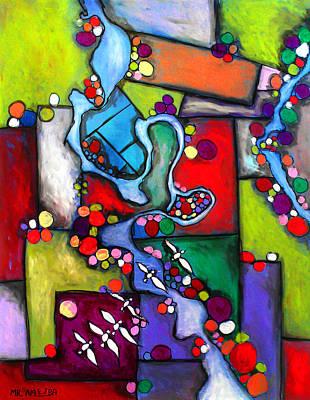Painting - Ameeba 61- Aerial 9 by Mr AMeeBA