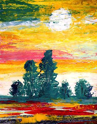 Painting - Ameeba 66- Treeline                      by Mr AMeeBA