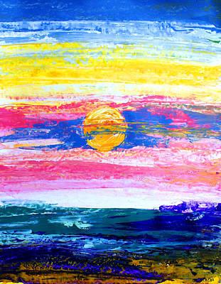 Painting - Ameeba 67- Sunset                    by Mr AMeeBA