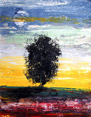 Painting - Ameeba 69- Lonely Tree                      by Mr AMeeBA