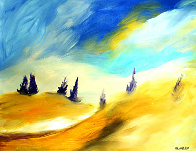 Painting - Ameeba 71- Rolling Hills            by Mr AMeeBA