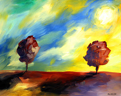 Painting - Ameeba 72- Sunset 2       by Mr AMeeBA