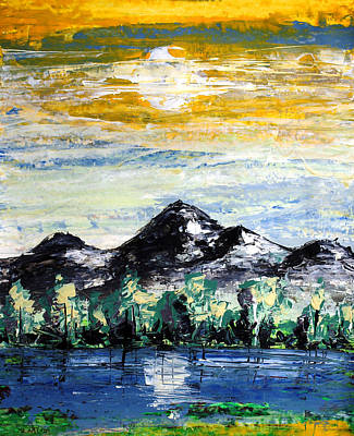 Painting - Ameeba 78- Mountain Range              by Mr AMeeBA