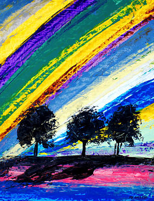 Painting - Ameeba 82- Rainbow Sky          by Mr AMeeBA