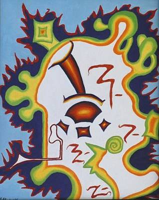 Painting - Ameebis by Mike Eliades