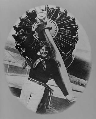 Bsloc Photograph - Amelia Earhart 1897-1937, Posting by Everett