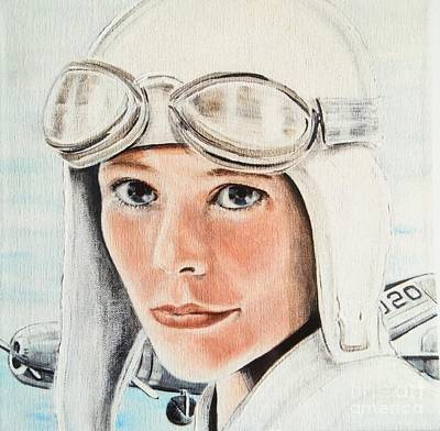 Liberation Painting - Amelia Earhart by Barbara Chase