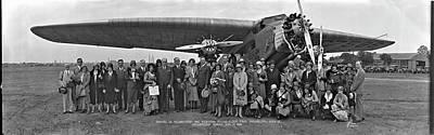 Amelia Earhart Washington Dc Airfield Art Print