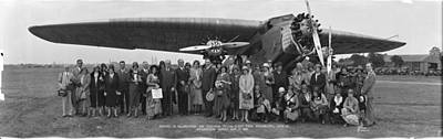 Amelia Earhart Washington Dc Airfield Art Print by Panoramic Images