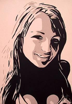 Hooters Painting - Amelia by Ian  King
