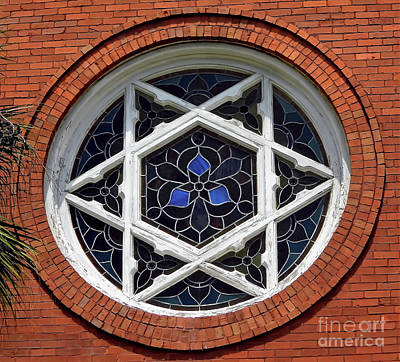 Photograph - Amelia Island Church Window by D Hackett