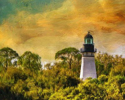 Historic Site Digital Art - Amelia Island Lighthouse 8896 by Linda King