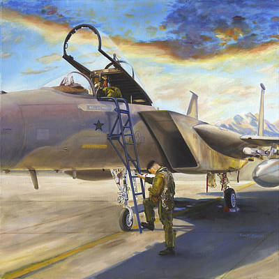 F15 Wall Art - Painting - Amen by David Gorski