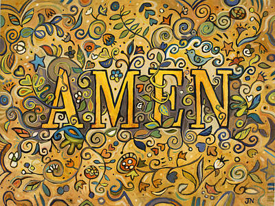 Thank Painting - Amen by Jen Norton