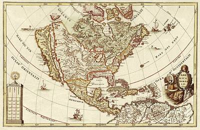 America Borealis 1699 Art Print