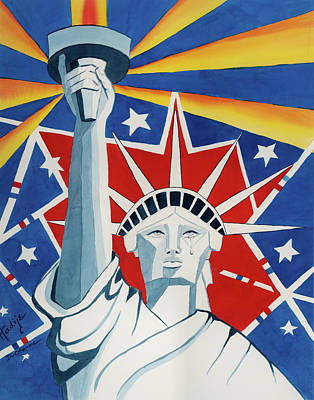 Liberty Painting - America Compromised by Mary DuCharme