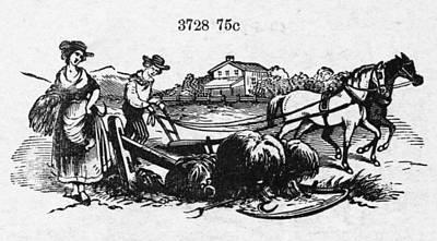 Horse-drawn Plow Photograph - America: Farming, C1870 by Granger