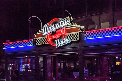 Photograph - America Graffiti Diner by Randy Scherkenbach