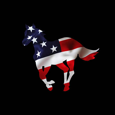 Digital Art - American Horse by Jessica Holter